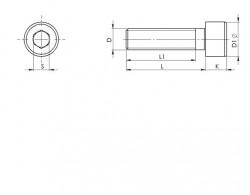 Vis tête cylindrique 6 pans creux DIN 912 M12 X 1.75 X 130mm cl.8.8 zingué Ecotri®