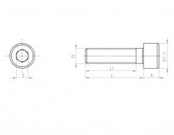 Bouchon de vidange tête cylindrique avec joint DIN 13 M18 X 1.50 acier cl.5.8 brut