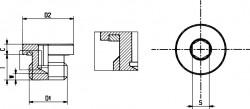 Bouchon de vidange tête cylindrique avec joint DIN 13 M12 X 1.50 acier cl.5.8 brut