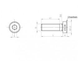 Vis tête cylindrique basse 6 pans creux M12 X 1.75 X 30mm cl 10.9 HOLO-KROME®