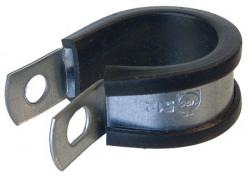 Collier de fixation pour tuyaux largeur 13mm Ø3,2 à 4,8mm inox 316