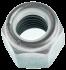 Ecrou hexagonal autofreiné (anneau non metallique)  M2.5 X 0.45 inox A2 NYLSTOP®