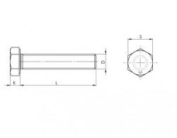 entièrement filetée ISO 4017 galvanisée à chaud