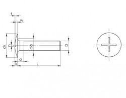 Vis métaux tête ronde large Poêlier empreinte fendue symbole RLS inox A2