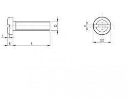 Vis métaux tête cylindrique large fendue inox A2
