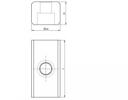 Lardon de précision percé étagé N°6322-1
