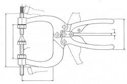 Pince de bridage SA 550