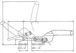 Sauterelle horizontale à anse de verrouillage FA 200 acier KAKUTA®