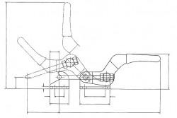 Sauterelle horizontale à anse de verrouillage FA 300 acier KAKUTA®