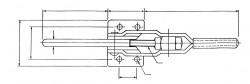 Sauterelle horizontale à crochet PA 250 acier KAKUTA®