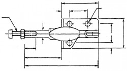 Sauterelle horizontale à tige coulissante SL