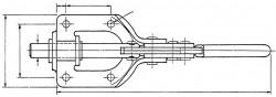 Sauterelle horizontale à tige coulissante SL 150 acier KAKUTA®