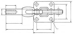Sauterelle horizontale à tige coulissante SL 200 acier KAKUTA®