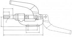 Sauterelle horizontale à tige coulissante SL 250 acier KAKUTA®