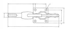 Sauterelle horizontale à tige coulissante SL 300 acier KAKUTA®