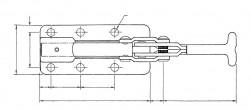 Sauterelle horizontale à tige coulissante SL 350 acier KAKUTA®