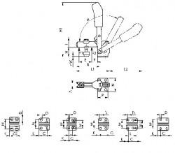 Sauterelle poussée à bras d'appui ouvert et embase horizontale N°6800 AMF