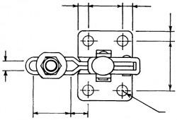 Sauterelle tirée à poignée verticale série basse HV 151-B acier KAKUTA®