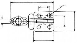 Sauterelle tirée à poignée verticale série basse HV 200 acier KAKUTA®