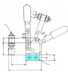 Sauterelle tirée à poignée verticale série basse HV 250 acier KAKUTA®