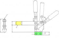 Sauterelle tirée à poignée verticale série basse HV 350 acier KAKUTA®