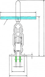 Sauterelle tirée à poignée verticale série basse HV 451-B acier KAKUTA®