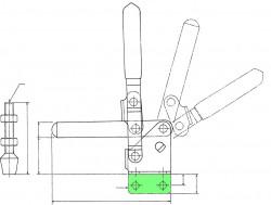 Sauterelle tirée à poignée verticale série basse HV 550 acier KAKUTA®