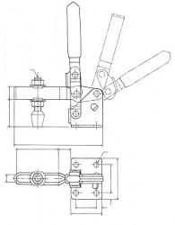 Sauterelle tirée à poignée verticale série basse HV 650 acier KAKUTA®