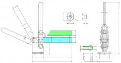 Sauterelle tirée à poignée verticale série basse HV 850 acier KAKUTA®