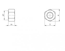 Ecrou hexagonal UNF ANSI B.18.2.2 inox A2