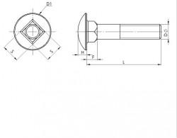 Vis à tête ronde collet carré inox A4