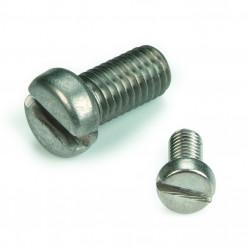 Vis métaux tête cylindrique fendue DIN 84 inox A4