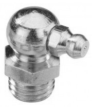 Graisseur genre «hydraulic» 90° DIN 71412 M8 X 1.25 inox 303 + bille inox 301