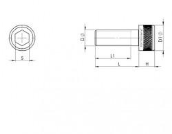 Vis six pans creux tête cylindrique BUMAX 88 filetages américain UNC série 1960