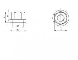 Ecrou à embase - Ecrou à rondelle tournante