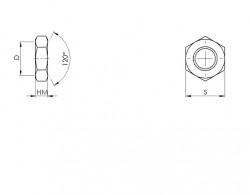 Ecrou bas ANSI B.18.2.2 NF acier grade 8 zingué blanc