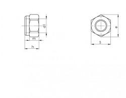 Ecrou hexagonal autofreiné (anneau non métallique) DIN 982 acier classe 8 zingué blanc