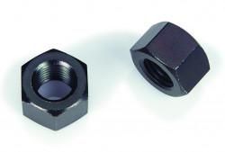 Ecrou hexagonal HH (hauts) décolleté ISO 4033 M12 X 175 acier doux zingué noir