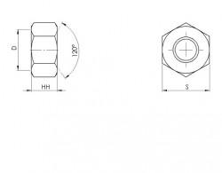 HH (haut) décolleté ISO 4033 acier zingué Ecotri®