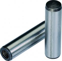 Goupille cylindrique rectifiée trempée à trou taraudé DIN 7979 D  8mm X 40mm acier