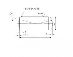 Cylindrique rectifiée trempée DIN 6325 acier trempé à coeur 100Cr6N°1.3505