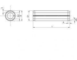 Goupille cylindrique creuse, dite «élastique» série épaisse DIN 1481 16mm X 80mm acier