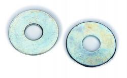 plate série normale DIN 125 acier zingué blanc côtes pouces