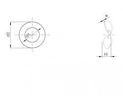 Rondelle élastique ondulée à deux ondes DIN 137B acier traité zingué Ecotri® ONDUFLEX®