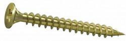 Vis à bois tête fraisée pozidrive DIN 7997 M4  X 16mm  acier zingué jaune