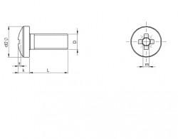 tête cylindrique bombée large à empreinte cruciforme Pozidriv Z ISO 7045 zingué écotri®