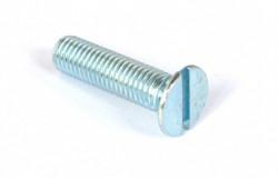 Vis métaux tête fraisée fendue DIN 963 M4 X 0.70 X 20mm acier zingué blanc