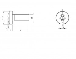 tête cylindrique bombée large à empreinte cruciforme DIN 7981 acier zingué blanc