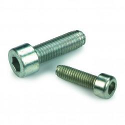 à métaux à six pans creux tête cylindrique DIN 7500E acier cémenté zingué blanc