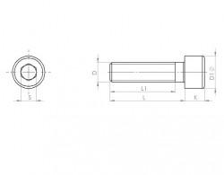 Vis tête cylindrique 6 pans creux DIN 912 M14 X 2.00 X 150 mm cl.12.9